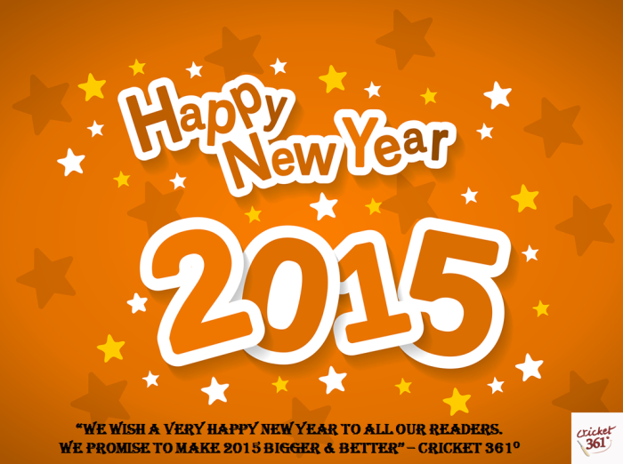 Happy New Year To Our Readers!!