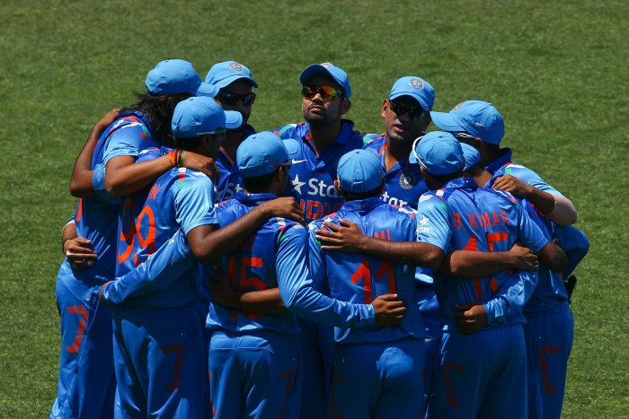 Indian Team Huddle